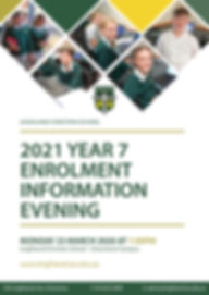 2021 Year 7 Enrolment information option