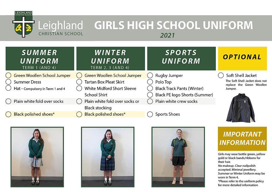 GILRS HIGHSCHOOL Uniform Explanation Han