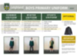 Uniform Explanation Handouts PRIMARY BOY