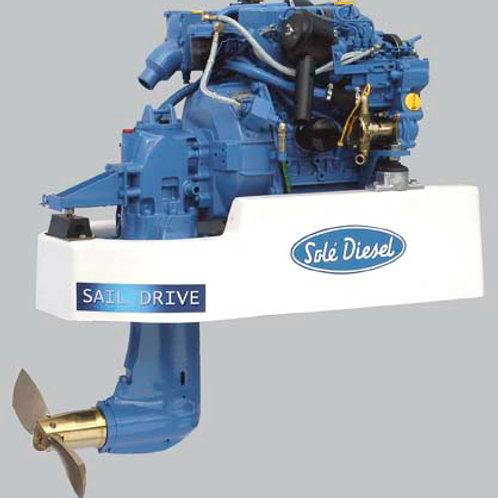 Solé Diesel MINI-17 SAIL-DRIVE et adapter, marinmotor, marine diesel engine SAIL