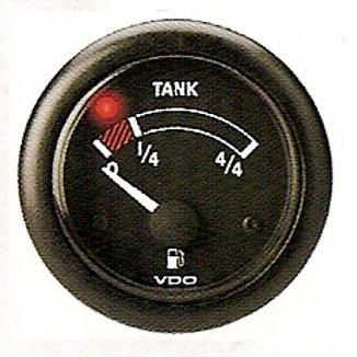 Polttoainemittari VDO, Bränslemätare VDO, Fuel gauge VDO