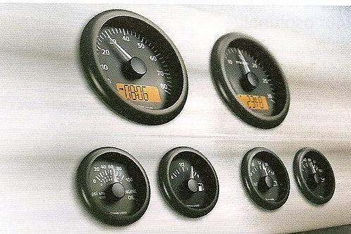 VDO View Line Marine volttimittari d. 52 mm, Voltmätare, Volt gauge VDO