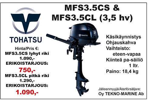 Tohatsu MFS3.5CS & CL