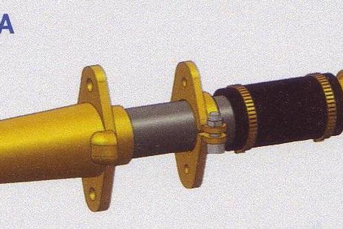 Vannasputki täydellinen d. 35 mm type A1, Stävrör komplett, Sterntube ass.