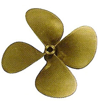 "Potkuri 4-lapa 30 mm akselille halk/d. 14"", 15"", 16"", Propeller 4-blade"