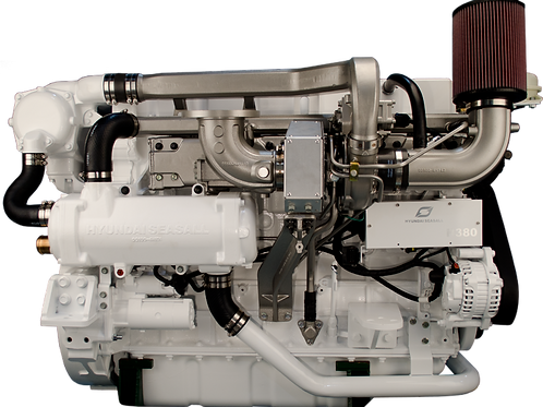 Hyundai SeasAll H-380 dieselmoottori, marin motor, marine diesel engine H-380