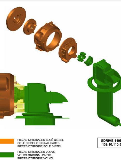 Sovitesarjat Solé Diesel moottoreille, adapters för Solé motorer, adapter series