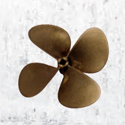 "Potkuri 4-lapa 25 mm akselille halk/d. 16"", 17"", Propeller, Propeller 4-blade"