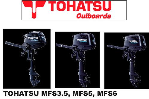 Tohatsu perämoottorit 3.5 hv, 5 hv, 6 hv, Outboards