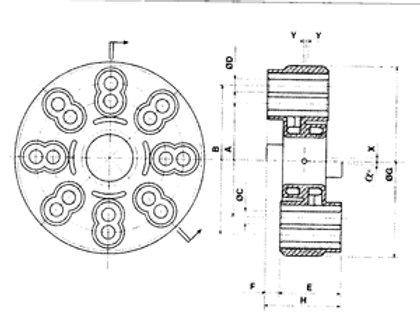 Joustolaippa, Flexibel koppling, Flexible coupling