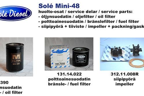 Solé Mini-48 huoltosetti - service kit