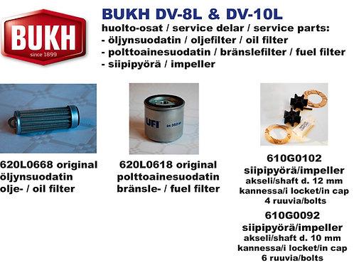 BUKH DV-8L et DV-10L huoltosetti, service kit