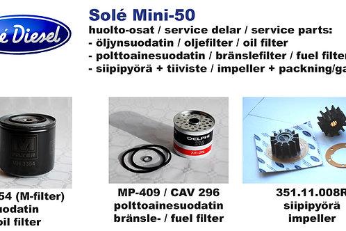 Solé Diesel Mini-50 huoltosetti - servicekit