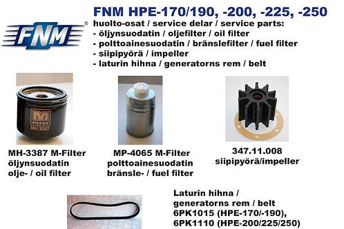 FNM HPE-170/190/200/225/250 huoltosetti