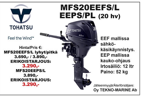 Tohatsu MFS20EEFS/L & EEPS/L