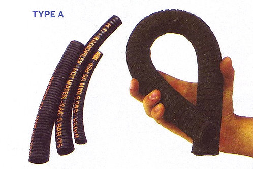 Kuminen joustava vesiletku, flexibel gummislang, water inlet hose