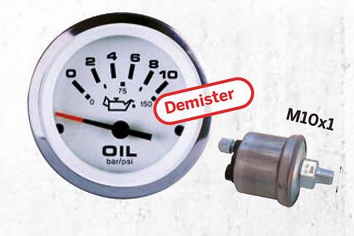 Öljynpainemittari 0-10 bar, Oljetrycksmätare, Oil pressure gauge