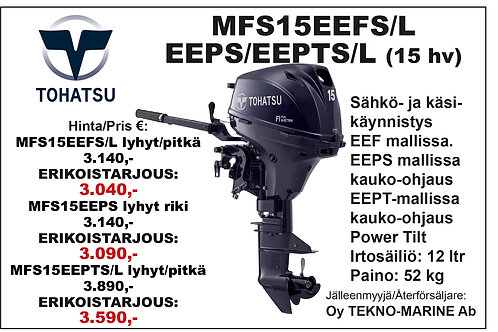 Tohatsu MFS15EEFS/L & EEP/T