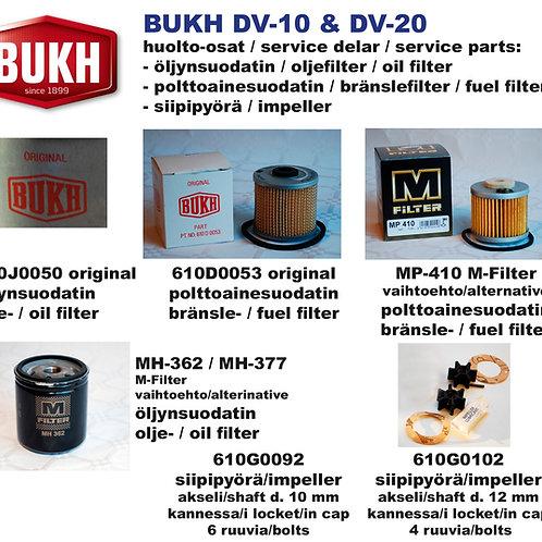 BUKH DV10 et DV-20 huoltosetti, service-kit