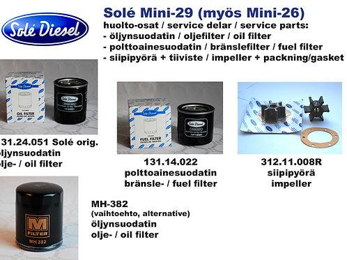 Mini-29 huoltosetti, service kit