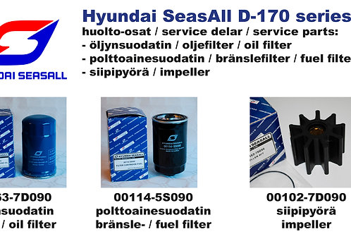 Hyundai SeasAll D-170 huoltosetti, service kit