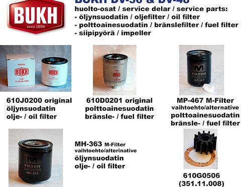 BUKH DV-36 et DV-48 huoltosetti, service kit