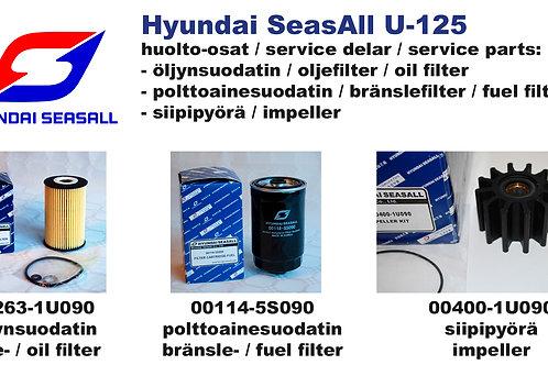 Hyundai SeasAll U-125 huoltosetti, service-kit