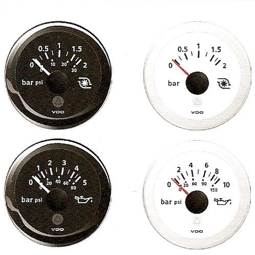 VDO öljynpaine mittari d. 52 mm, Oljetrycksmätare, Oil Pressure gauge VDO