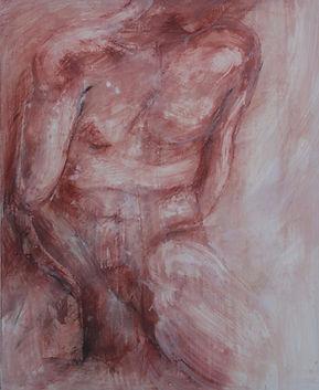 Dibujo de desnudo en sepia