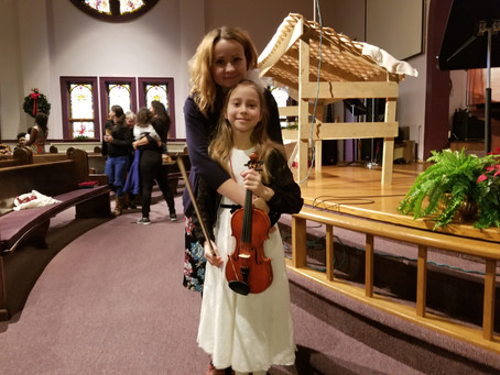 Proud mom presents: Sima Bezuglova is playing violin with Owosso high school winter recital!