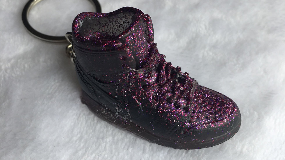 Basket violette noire