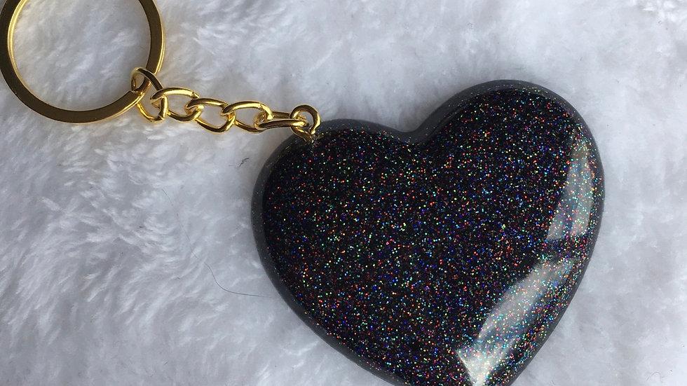 Cœur noir holographique