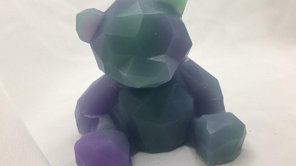 Ourson marbre vert violet