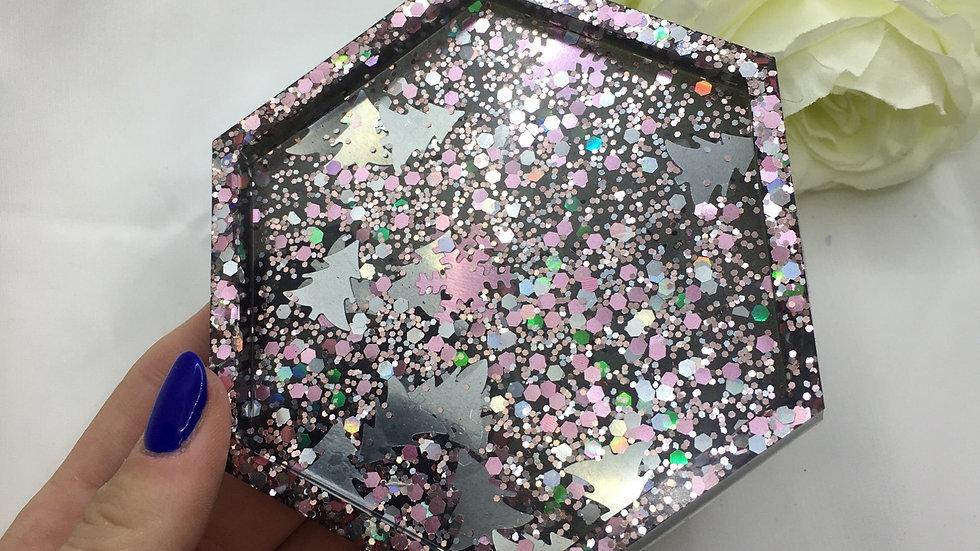 Dessous de verre noir noël