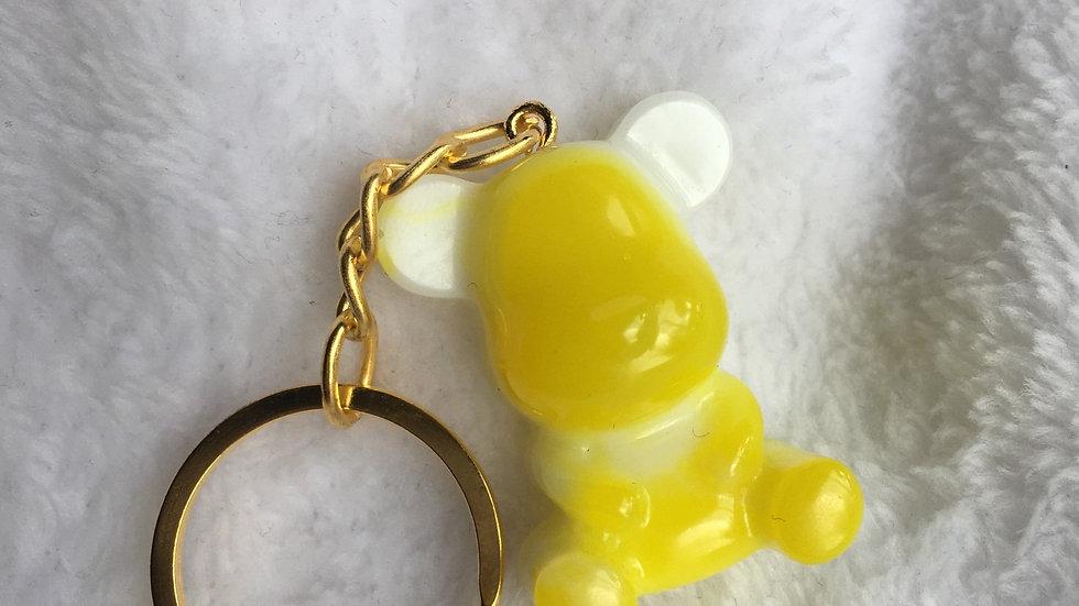 Moyen ours jaune fluo blanc