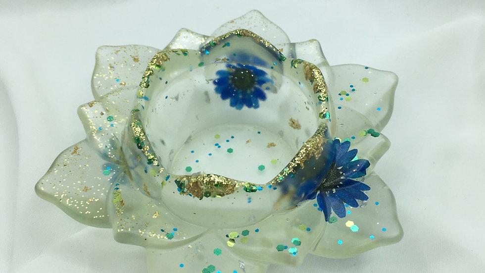 Bougeoirs bleu