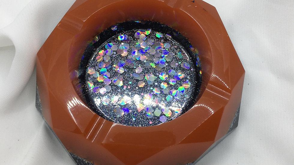 Cendrier orange holographique