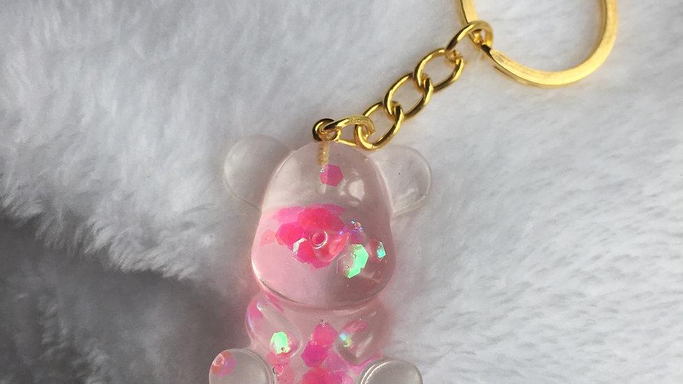Moyen ours rose holographique