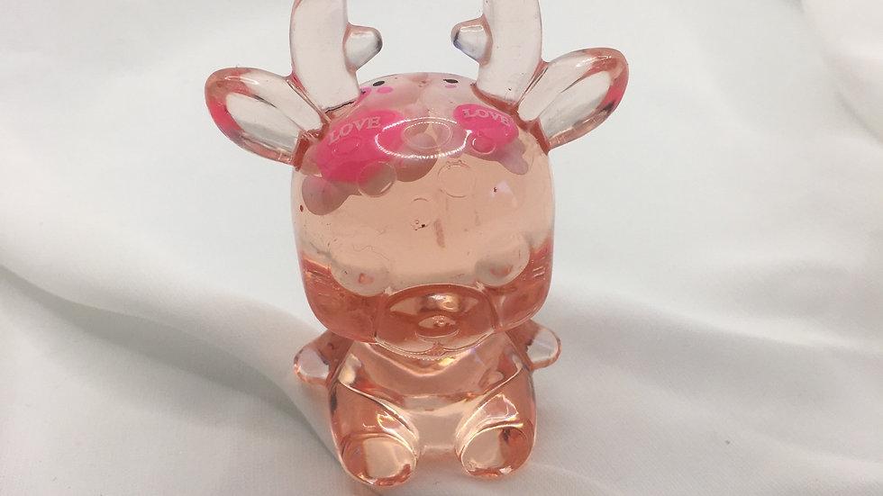 Biche transparente avec ours et lapin love