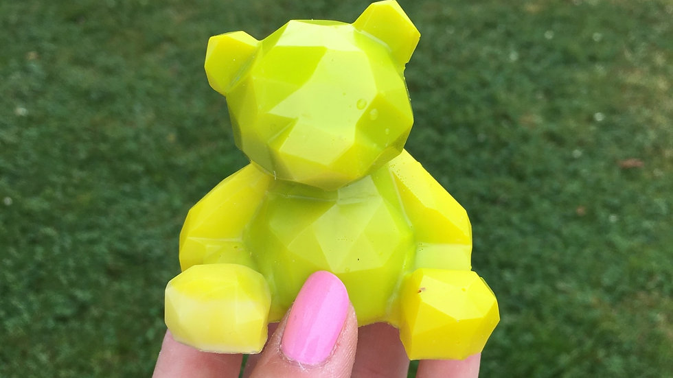 Ourson jaune fluo