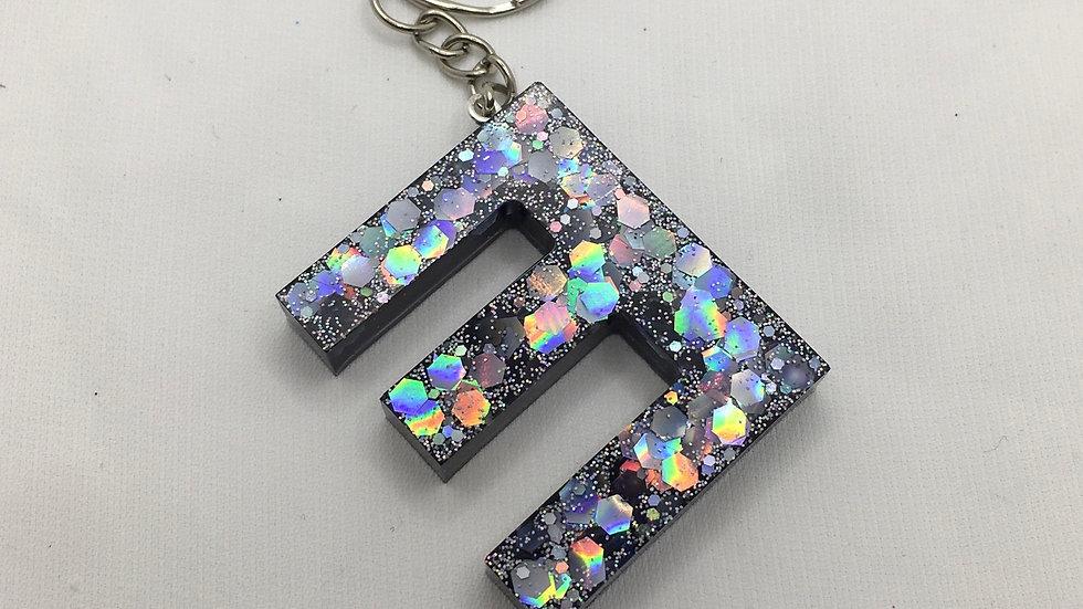Porte clef lettre E