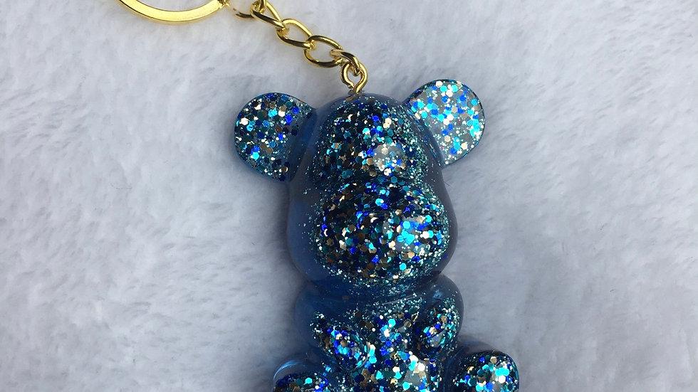 Maman ours bleue paillettes