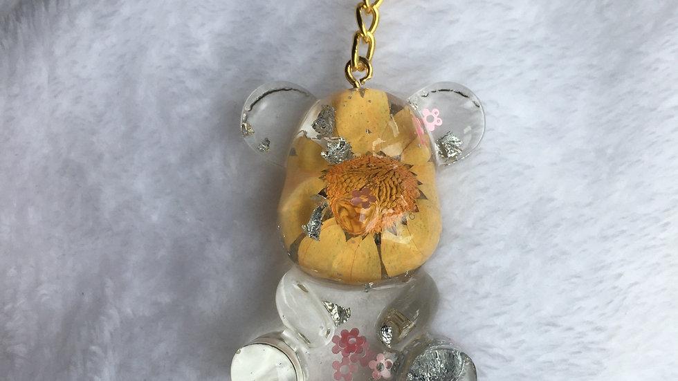 Maman ours oranges fleurs