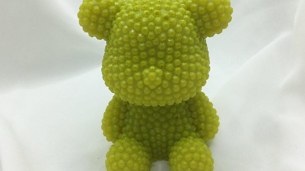 Grand ours jaune vert fluo
