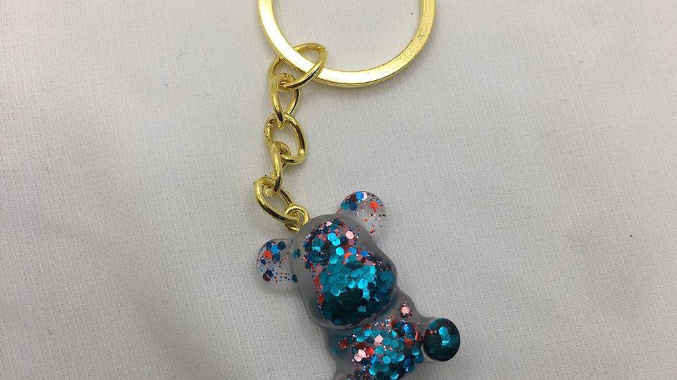 Bébé ours bleu paillettes