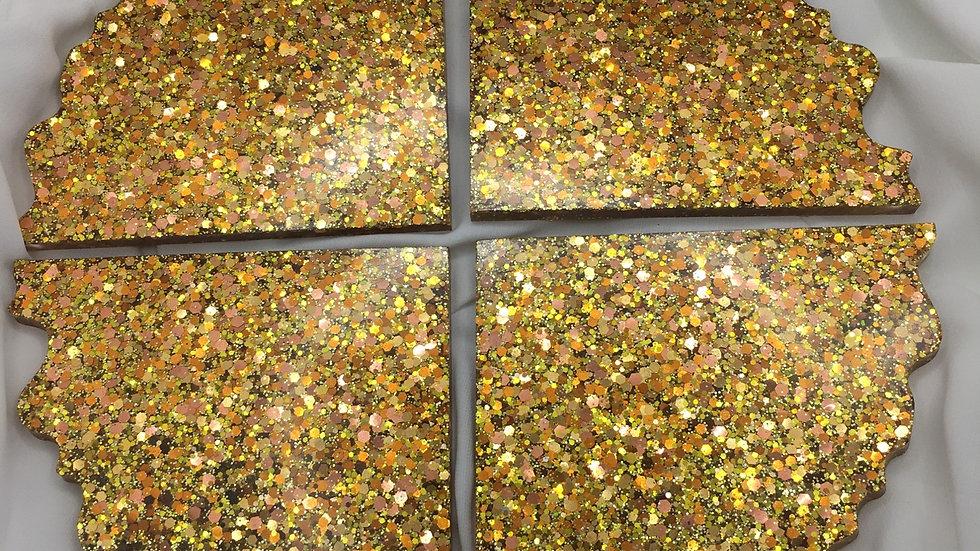 Dessous de verres x4 dorés