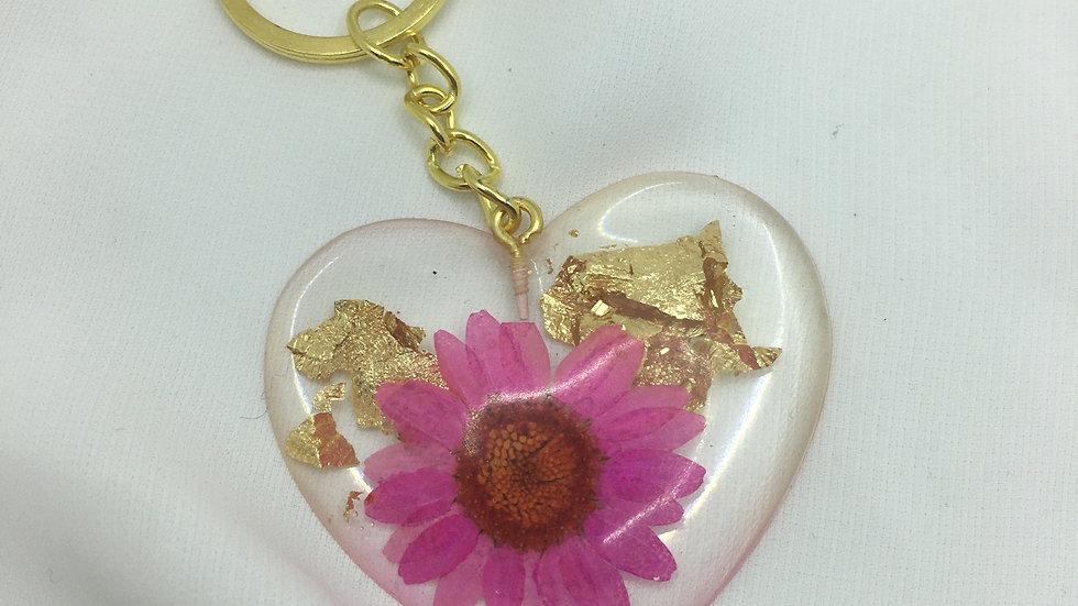 Cœur doré rose