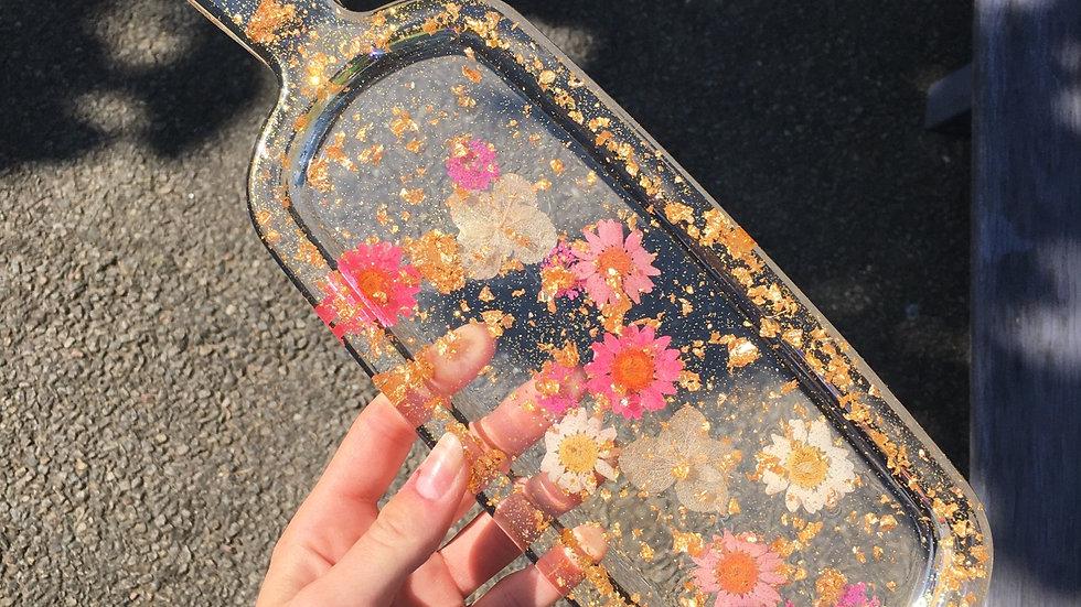 Planche a découper fleurie