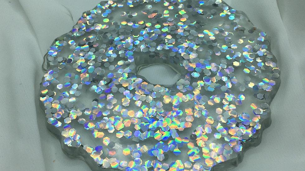 Repose bijoux holographique ondulé à défaut