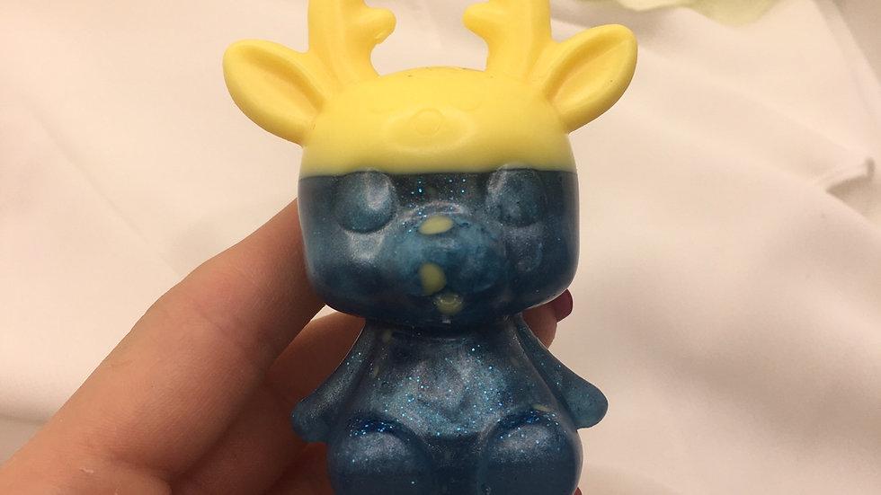 Biche jaune bleue